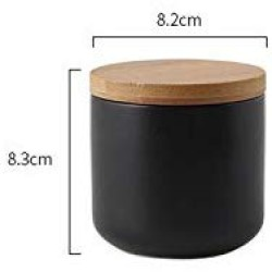 260Ml/800Ml/1000Ml Sealed Ceramic Storage Jar For Spices Tank Container For Eating With Lid Bottle Coffee Tea Caddy Kitchen,S Black