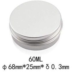 (2oz) 30 Pack Tin Cans Screw Top Round Metal Lip Balm Tins Containers Lids -Great for Store Spices, Candies, Tea or Gift Giving