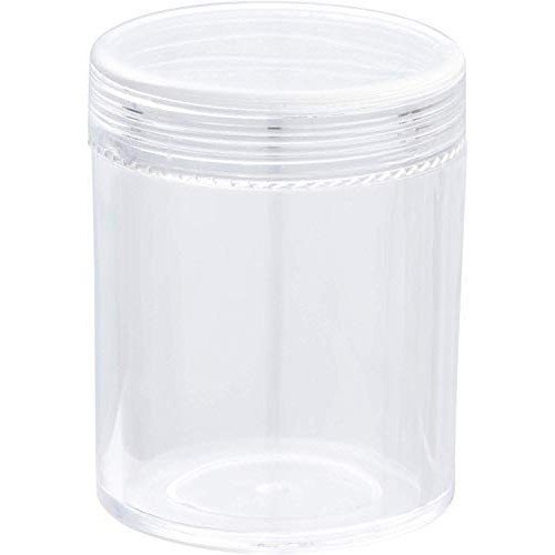 Slime Jars With Lids - Plastic Storage Jars - 35-Pack Slime Jars with Screw-on Lids, Refillable Round Containers Organizer for Craft Item, Small Part, Cosmetic, Body Scrub, Accessory, Food, 1.2 OZ