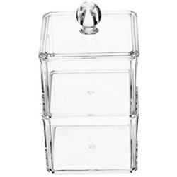 1 Pc Acrylic Transparency Food Storage Box Double Layers Tea Bag Organizer Kitchen Sorting Container with Dustproof Cover