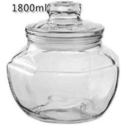 HIZLJJ 2Pcs Food Storage Jar,Glass Food Storage Jar with Airtight Seal Lid - Modern Design Clear Food Storage Canister for Serving Tea, Coffee, Spice and More