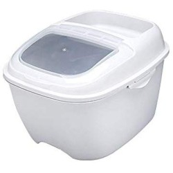 10KG Grain Storage Box Sealed Cans Household Kitchen Plastic Covered With Jar Rice Beans Bucket Grain Storage Cans,1