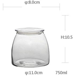 Large-capacity Glass Bottle Modern Snacks Candy Plate Glass Candy Jar Creative Candy Storage Cans With Lid European Storage Tank Sugar Cans Crystal Storage Tank (Size : M)