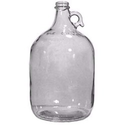 1 gal Clear Glass Growler Jars with 38mm Black Polyseal Lids (Pack of 4)