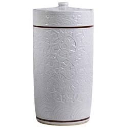Airtight Food Storage Containers Bins Large With Lids, Ceramic Pottery Cereal Containers Canister Cookie Jar For Kitchen Pantry Organization Flour Rice Candy Bulk, 20L, 48x28cm