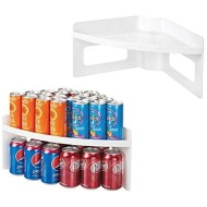 mDesign Plastic Kitchen Cabinet Lazy Susan Food Storage Organizer Raised Shelf Tray - 2 Tier, Pie-Shaped, 1/4 Wedge, Organize Soup Cans, Pasta, Tea, Coffee, Spices, Jars, Bottles - 2 Pack - White