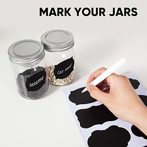 Accguan Mason Jars,Glass Jars With Lids 12 oz,Canning Jars For Pickles And Kitchen Storage,Wide Mouth Spice Jars With Silver Lids For Honey,Caviar,Herb,Jelly,Jams,Set of 20