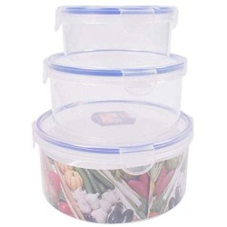 Kitchen Food Storage Jar Airtight Food Storage BPA Free Food Storage Container-Set 6Pieces Suitable For Dishwasher Freezer Microwave Clip Lid Food Container Air Tight Liquid Proofed And Aroma Safe