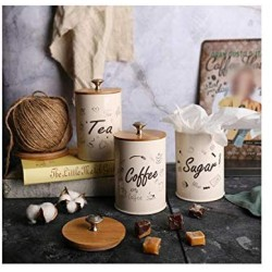 1 Set Storage Box Coffee Tea Food Canister for Kitchen Containers Jars Bottles Candy Sugar Storage Bottles Jars Bowl Boxing