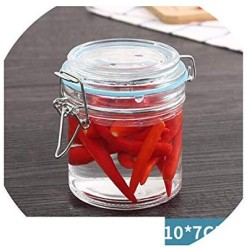 1 Piece Glass Storage Bottles Jars With Lid Large Capacity Honey Candy Jar Kitchen Container Sealed With Cover,300Ml