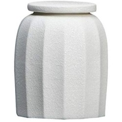 1 Pc Sealed Ceramic Storage Jar for Spices Tank Container for Eating with Lid Bottle Coffee Tea Caddy Kitchen 300ml,White