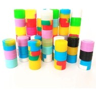 100Pcs Non-Stick Silicone Wax Dab Containers 2ml Multi Use Storage Jars Cream Emulsion Bottles Assorted Colors