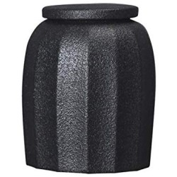 1 Pc Sealed Ceramic Storage Jar For Spices Tank Container For Eating With Lid Bottle Coffee Tea Caddy Kitchen 300Ml,Black