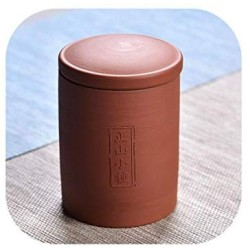 7.511Cm Chinoiserie Style Tea Canister Ceramic Cans For Spices Storage Purple Clay Tea Sealed Storage Box Tank Tea Jar Potjes,Hszhengshanxiaozhong