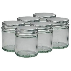 - 30ml CLEAR GLASS Jars with ALUMINIUM Lids for Aromatherapy Blends / Creams by Avalon Cosmetic Packaging