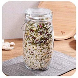 1 Piece Glass Storage Bottles Jars With Lid Large Capacity Honey Candy Jar Kitchen Container Sealed With Cover,1500Ml