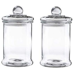 0.7 Gal Glass Apothecary Jar 6.2X11.2 Inch Canister Set with Ball Lid, 2-Piece Set