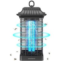Sahara Sailor Mosquito Zappers with Metal Housing, Outdoor Rainproof Insect Killer, Mosquito lamp, Light-Emitting Flying Insect Trap (Square)