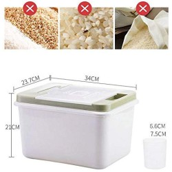 10KG Cereal Storage Container Insectproof and Moistureproof with Lid,Rice Organizer Container,Large Grain Storage Dispender with Rice Cup for Oatmeal Sugar Nuts Beans Corn Flour Dry Food