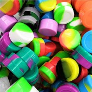 20pcs Non-Stick Silicone Wax Dab Containers 5ml Multi Use Storage Jars Cream Emulsion Bottles Assorted Colors