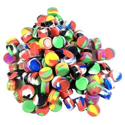 (50) 5 ml Non-stick Silicone Containers Jar wholesale - Mixed Colors