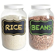 Clear Glass Gallon Jars, Pack of 2 - with Chalkboard Labels!