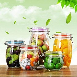 1 Piece Glass Storage Bottles Jars With Lid Large Capacity Honey Candy Jar Kitchen Container Sealed With Cover,250Ml