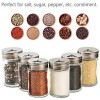 Spice Jars, Segarty 6 Pack 3 oz Spice Bottles with Shaker Lids, Glass Empty Storage Containers with Adjustable Stainless Steel Flow Top for Your Regularly Used Spices