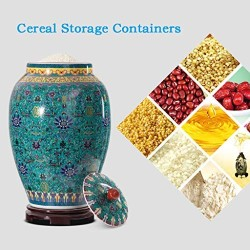 Airtight Food Storage Containers Bins Large With Lids, Ceramic Pottery Cereal Containers Canister Cookie Jar For Kitchen Pantry Organization Flour Rice Candy Bulk, 15L, 25L (Size : 25L)