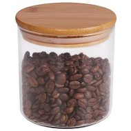 Food Storage Jar, 18.6 FL OZ (550 ML), [Thickened Version] 77L Glass Food Storage Jar with Airtight Seal Bamboo Lid - Modern Design Clear Food Storage Canister for Serving Tea, Coffee, Spice and More