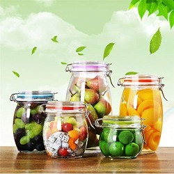 1 Piece Glass Storage Bottles Jars With Lid Large Capacity Honey Candy Jar Kitchen Container Sealed With Cover,200Ml-1