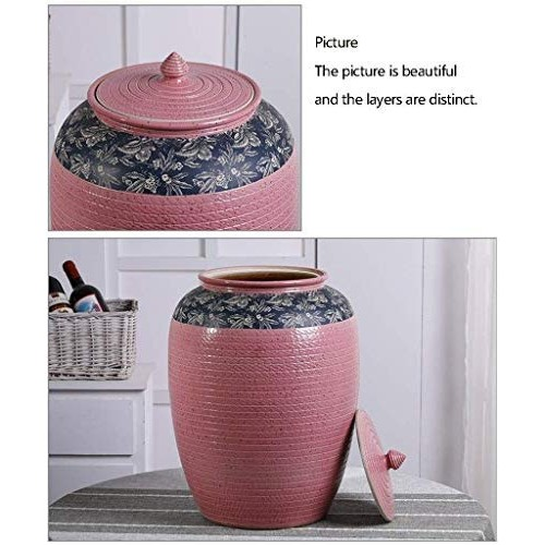 HIZLJJ Ceramic Food Storage Jar Canister Modern Design Food Canisters with Airtight Seal Lid,Loose Tea Coffee Spice Nuts Snacks Seasonings Storage Jar Canister Caddy