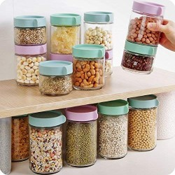 1pcs Kitchen glass sealed jars with lid cereals snacks storage tank milk powder candy cookie container storage bottle mx6201126 Large Glass Storage Containers With Lids