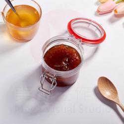 100ml 2pcs PET Jar With plastic Lid Replacement Plastic Pet Jar For Honey Jam Spice