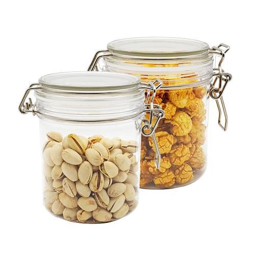 The Square PET Yogurt Jars,Candle Jars with cork lids, Dessert PET jars, 4 Oz 2pcs PET Jars for Jam,Milk, Honey, PET Yogurt container with Labels and Strings.