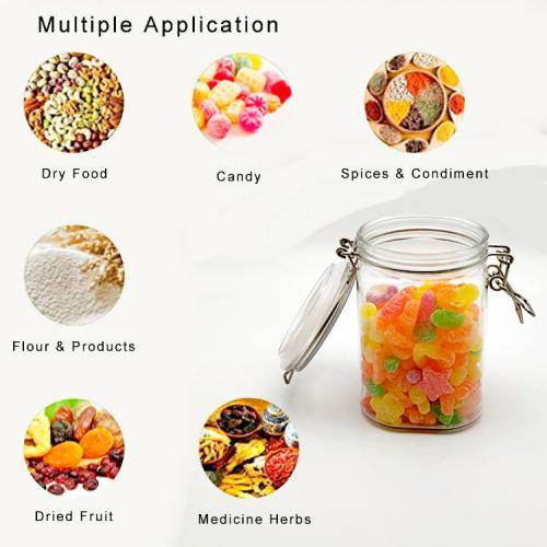 2pcs 800ml kitchen storage plastic pet jars for food plastic Pet candy jar decoration cookie container
