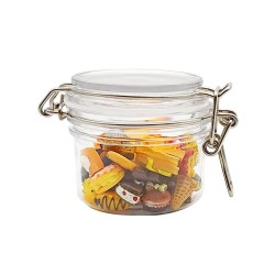 120ml Acrylic plastic jar with airtight lid for snack and food packaging