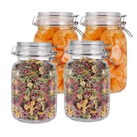 | Storage Bottles & Jars | New 1000ml  Mason Borosilica Glass  Jar Kitchen Food Bulk Container Set For Spices Dried Fruit Storage Can Salad Bowl Box | by HUDITOOLS | 4 PCs