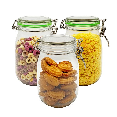 1150ml 3Pcs Candy Storage Christmas Biscuits Coin Candy Storage Box Container Case Jewelry Headphones Organizer Tin Sealed Jar, 2 Colors Optional