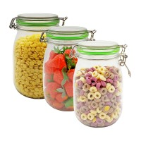 clear color storage container jar plastic Pet storage honey jar Pet mason jar Replacement 3 packs