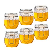 200ml 6packs High quality wholesale honey airtight jar, hexagon honey jar
