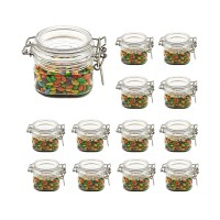 (12 Pack) 6 oz (150 ml) Victorian Square PET Jar storage jar with plastic PET Lid food jar plastic jar by Packaging For You