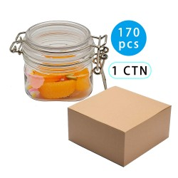 170pcs Kitchen PET sealed jars with lid cereals snacks storage tank milk powder candy cookie container storage bottle 150ml supplier of amazon small order