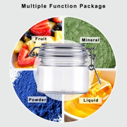 150ml porcelain clear plastic pet cosmetic jar replacement for cream Ceramic cream container wide mouth porcelain clear jar