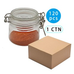 128pcs Small Lidded Plasric Jars With Locking Lids Plastic Tea Container / airtight Plastic jars with clamp lids