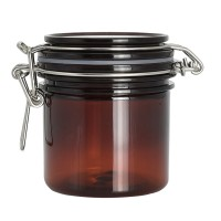 6oz / 7oz Straight Sided Amber Plastic Pet Jars for Cosmetic and candles