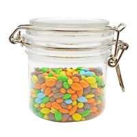 Food storage perfect storing sweets and snacks plastic candy jar set