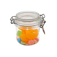 Cookie Jar PET Jars with Lid Airtight Storage Container Jar Kitchen Canister Food Cookie Stackable Jar,200ml