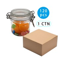 140pcs Cookie Jar PET Jars with Lid Airtight Storage Container Jar Kitchen Canister Food Cookie Stackable Jar,200ml