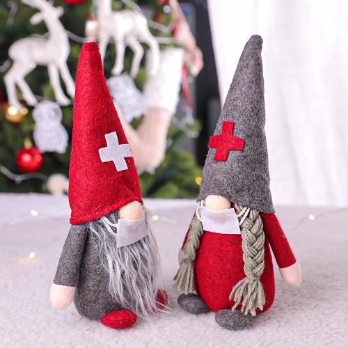 2020 New Christmas Decorations Doctors Nurses Santa Claus Faceless Doll Decoration Gift Christmas Doll